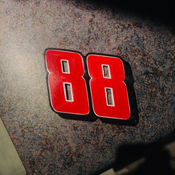 88.png Download free STL file DALE EARNHARDT JR. #88 • 3D printable design, GREGCAR_3DPrinting