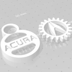 Acura.jpg Download free STL file ACURA GEAR KEY CHAIN • 3D print object, GREGCAR_3DPrinting