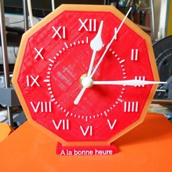 Download free 3D printing files table clock, domansieau