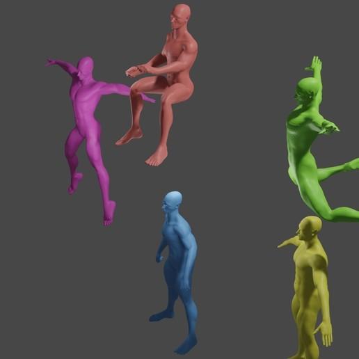 pic3.jpg Download free STL file elf,doll,5 poses • 3D print design, gaaraa