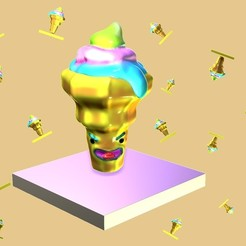 ZBrush Document.jpg Download STL file ice cream, icecream, toy, funny • 3D printable object, gaaraa