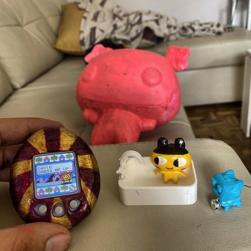 2B819157-3842-4E9E-BB4A-C209C8294887.jpeg Télécharger fichier STL Mametchi, personnage politique du tamagotchi, animal de compagnie japonais. • Plan pour imprimante 3D, gaaraa