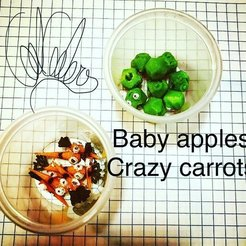 Télécharger fichier STL gratuit Bébé pomme, bébé manzana • Plan pour impression 3D, gaaraa