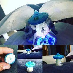 Télécharger fichier STL gratuit ufo valve cap . ovni tapon de valvula • Objet pour impression 3D, gaaraa