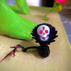 F6C48EE0-4D30-4F55-83FB-1E333587B59A.jpeg Download STL file death flower . skull flower • 3D printing object, gaaraa