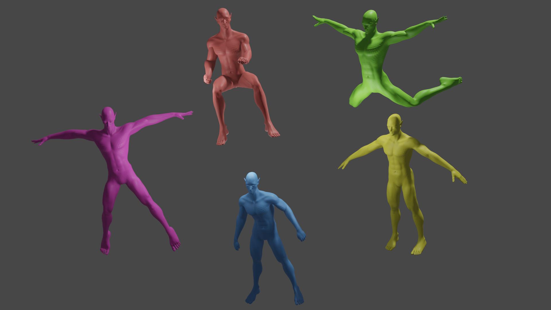 ic3.png Download free STL file elf,doll,5 poses • 3D print design, gaaraa