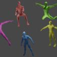 Télécharger fichier STL gratuit elfe, poupée, 5 poses • Plan pour impression 3D, gaaraa