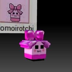 Momoirotchi.jpg Download STL file tamagotchi, Momoirotchi baby girl. • Design to 3D print, gaaraa