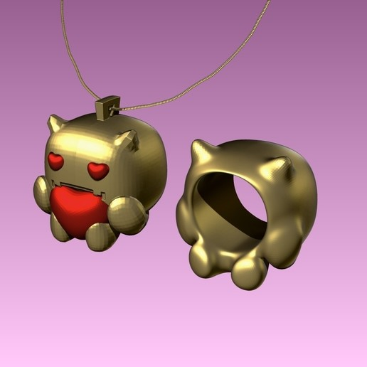 2.jpg Download free STL file devil baby FUNKO necklace and ring . funkos colgante bebe demonio y anillo a juego. #ANYCUBIC3D • 3D printing object, gaaraa