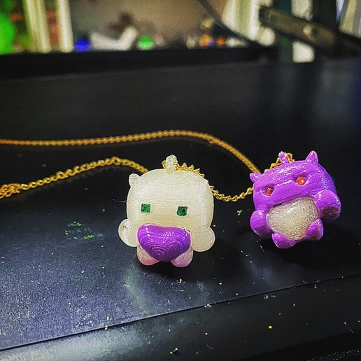 93CF1574-4700-4BA6-A25E-72A8481B16E9.jpeg Download free STL file devil baby FUNKO necklace and ring . funkos colgante bebe demonio y anillo a juego. #ANYCUBIC3D • 3D printing object, gaaraa