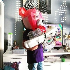 Download free STL file fortnite bear full head mask . mascara • 3D printer object, gaaraa