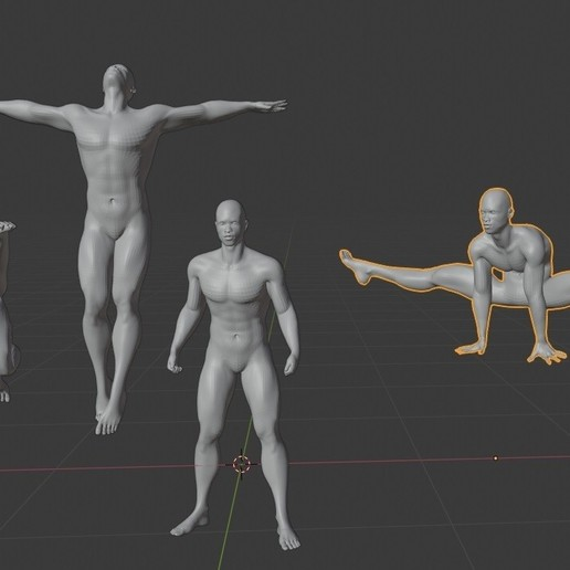 Download free STL file man black, afro, africa model, hot guy poses. • 3D print model, gaaraa