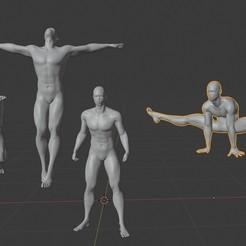 Télécharger objet 3D gratuit homme noir, afro, mannequin africain, poses de mecs sexy., gaaraa