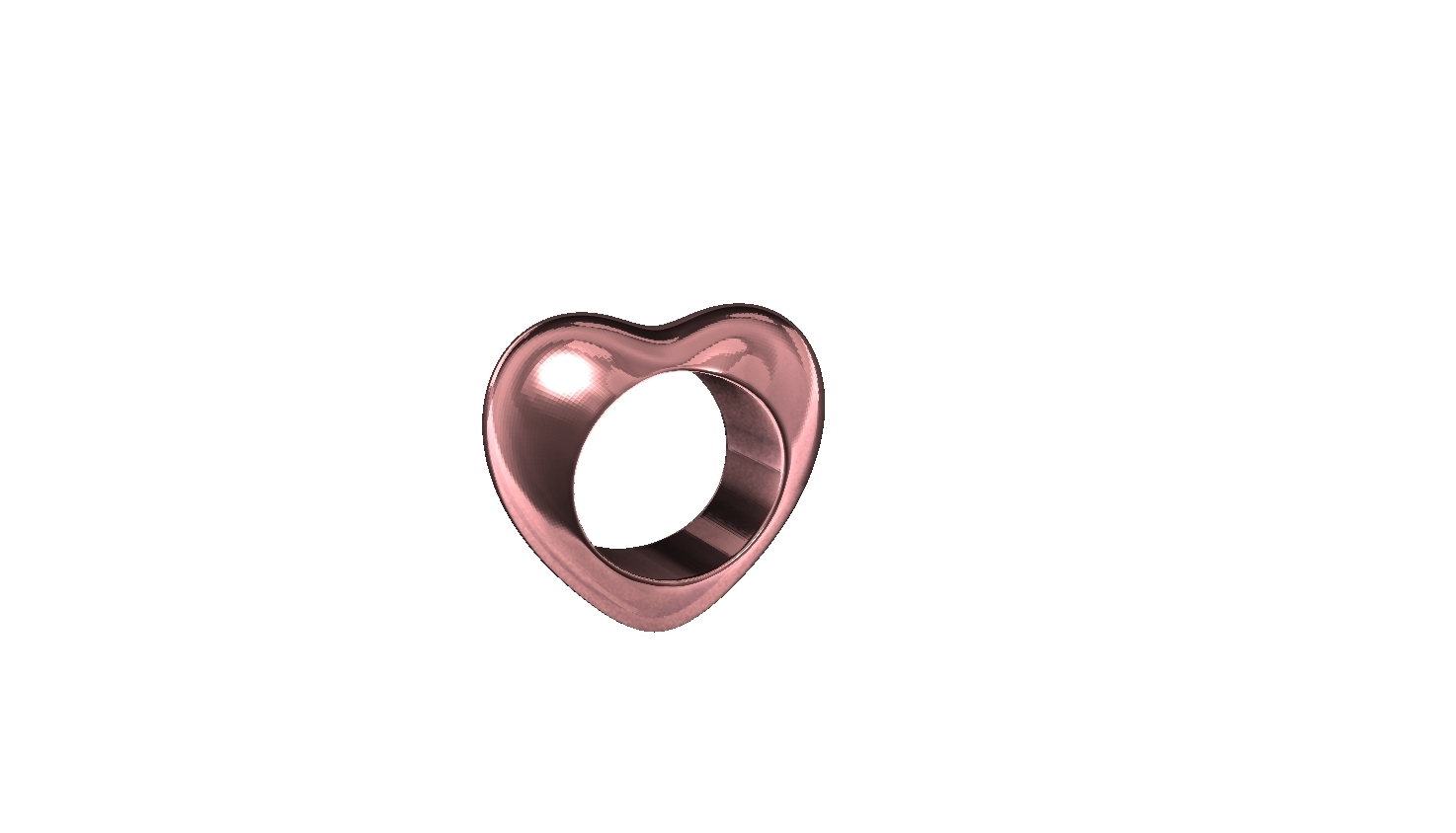 ZBrush Document.jpg Download STL file LOVE RING and Mold Simply heart ring and mold . contest - #ANYCUBIC3D • 3D printer model, gaaraa