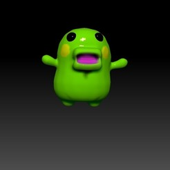 ZBrush Document.jpg Download free STL file kuchipatchi poo time , tamagotchi , • 3D print object, gaaraa