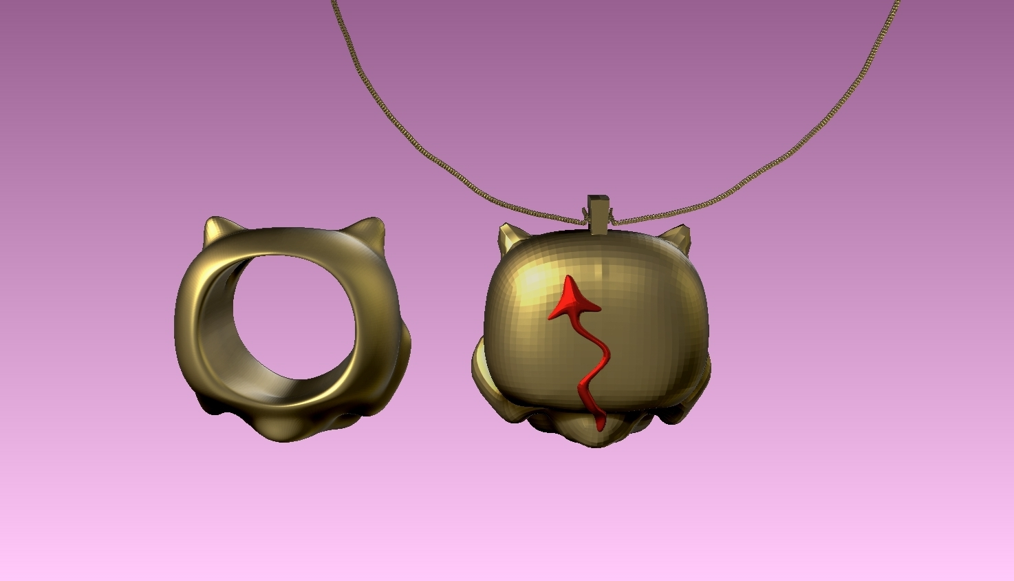 3.jpg Download free STL file devil baby FUNKO necklace and ring . funkos colgante bebe demonio y anillo a juego. #ANYCUBIC3D • 3D printing object, gaaraa