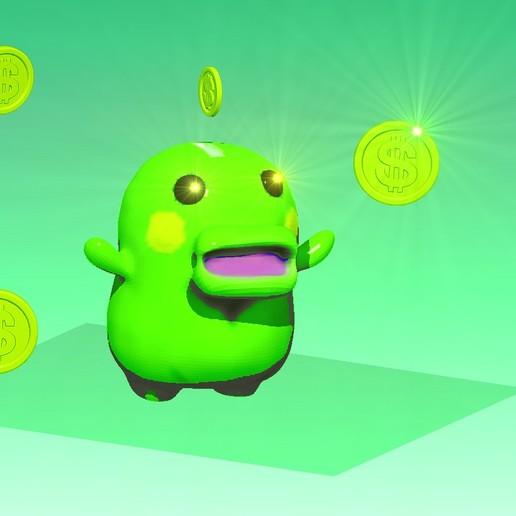 Télécharger fichier impression 3D gratuit KUCHIPATCHI MONEY BOX, TAMAGOTCHI ,, gaaraa