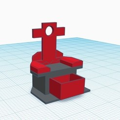F.jpg Download STL file trone,throne,chair,sofa WITH BOTTOM BOX • 3D printable object, gaaraa