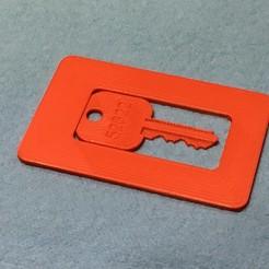 Descargar STL gratis Tarjeta de crédito con llave de repuesto (Schlage), rssalerno