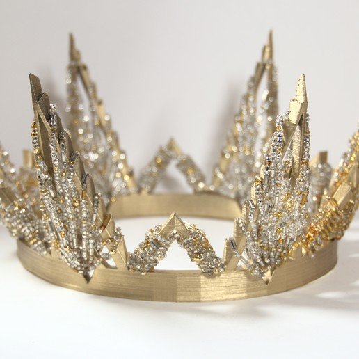 gold crown.jpg Download free STL file Pointed Crown • 3D printer object, absurd_designs