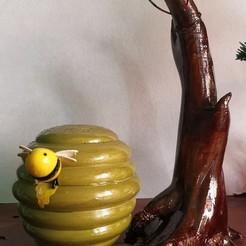 IMG_20201209_152023.jpg Télécharger fichier STL gratuit Lampe décorative en nid d'abeille • Modèle à imprimer en 3D, cheandrou