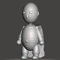 Download free 3D printing files one punch saitama low poly, cheandrou