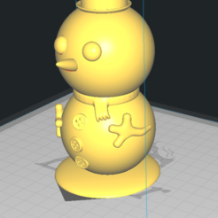 snowman3.png Download STL file Snowman pen • Template to 3D print, cheandrou