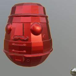 Download free OBJ file Low Poly Nutcracker Bank / Alcancía Low Poly Cascanueces • 3D printable object, cheandrou