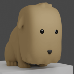 perritoa.png Download STL file Cute Puppy Pencil Holder • 3D printable design, cheandrou