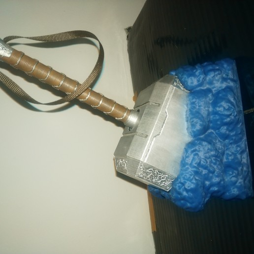 IMG_20190619_164157.jpg Télécharger fichier STL gratuit Base rocheuse de Mjolnir • Objet pour imprimante 3D, Concept-D