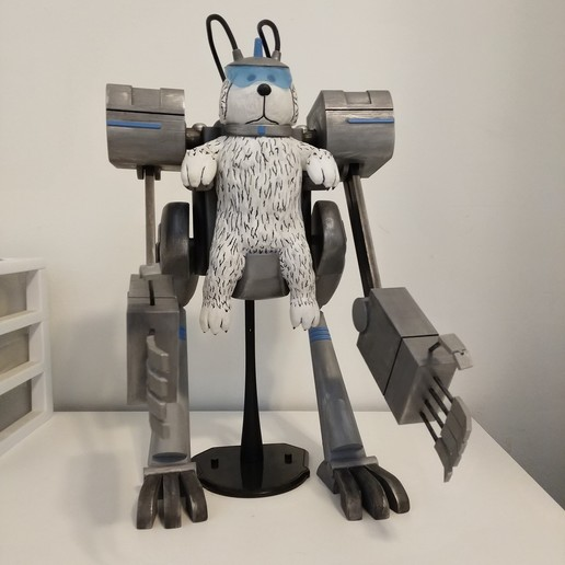 Download 3D printing designs Snowball 'Snuffles' Robot - Articulating 'Rick and Morty', Concept-D