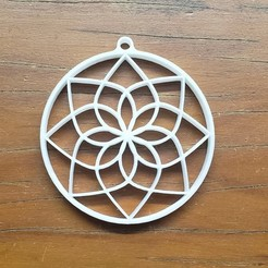 Download free 3D printing templates lotus flower mandala pendant, fribeiro77