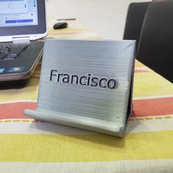 Descargar Modelos 3D para imprimir gratis Teléfono móvil de apoyo Francisco, fribeiro77