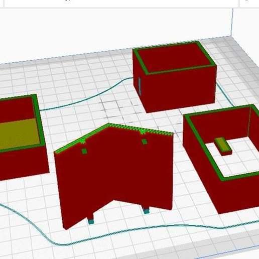 posicionamento_na_mesa.jpg Télécharger fichier STL gratuit Mini maison de jouets avec piscine • Modèle pour imprimante 3D, fribeiro77