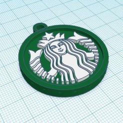 Captura.JPG Download STL file Keychain Starbucks logo • 3D print object, delfinaifran