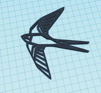geometric bird.JPG Download free STL file Geometrical bird figure • 3D print object, delfinaifran