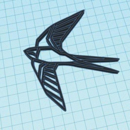 Télécharger fichier STL gratuit Figure géométrique d'oiseau, delfinaifran
