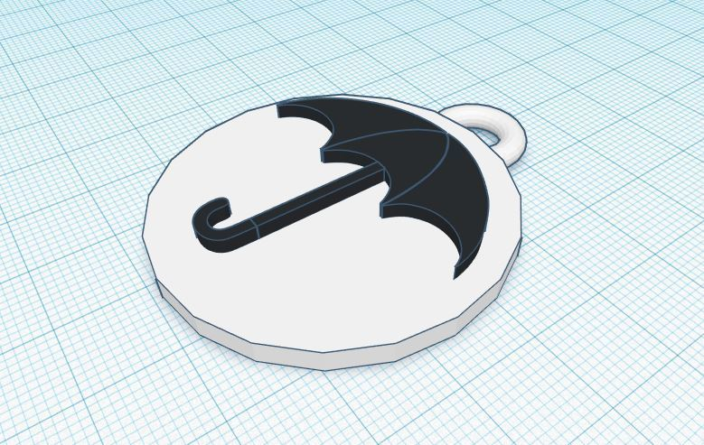 umbrella academy foto.JPG Download free STL file Umbrella Academy Keychain • 3D printable design, delfinaifran