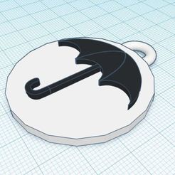 Download free STL file Umbrella Academy Keychain • 3D printable design, delfinaifran