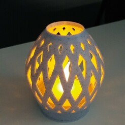 20210121_112919[1].jpg Download STL file table lamp to install a led candle in it • 3D print design, 25kroki