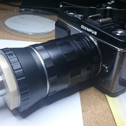 Impresiones 3D gratis Adaptador de lente RMS a M42, antoine_emerit
