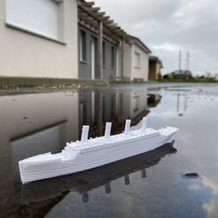 Download free 3D printing files RMS TITANIC - scale 1/1000, emmanuelolle