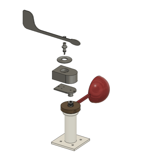 Untitled.png Download free STL file Anemometer w/ Hall Effect Sensor • Object to 3D print, SeanTheITGuy