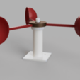 render.png Download free STL file Anemometer w/ Hall Effect Sensor • Object to 3D print, SeanTheITGuy
