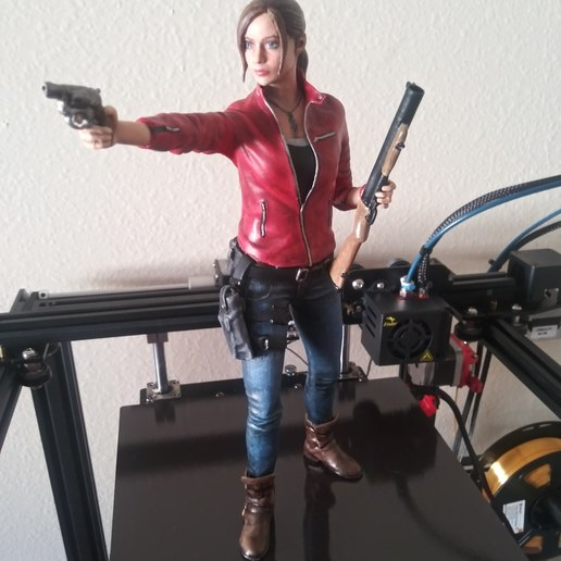 3d Print Claire Redfield Resident Evil 2 Remake Statue Cults