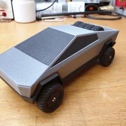 Download free 3D printing designs Tesla Cybertruck , luiwop