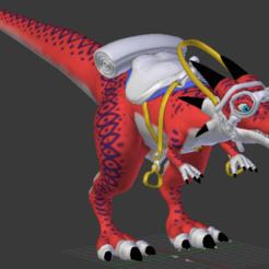 Télécharger fichier STL Dragon Ball Dinosaure rouge de coursse !, kuzeikuzanagi