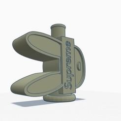 fotoconejosupreme11.jpg Télécharger fichier STL Shisha / Cachimba Embout BAD BUNNY X SUPREME • Objet à imprimer en 3D, pedrosss91