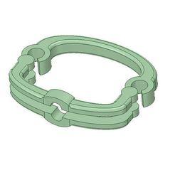 strapholder.JPG Download STL file Bag strapholder • 3D print template, 3designerwork