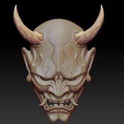 Front.jpg Download STL file ONI Mask • 3D printable object, JGalvez